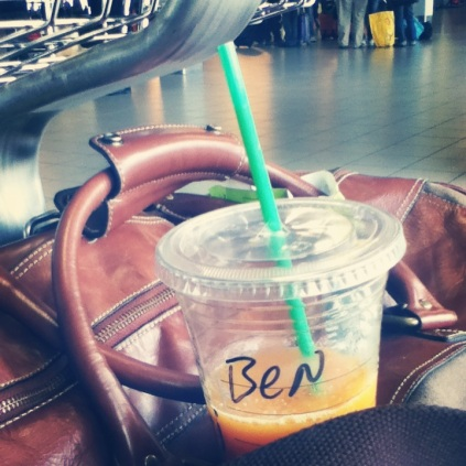 This was B's drink at the airport before our trip to Cannes - feels like a lifetime ago!