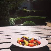 Lunch in the garden at 180.