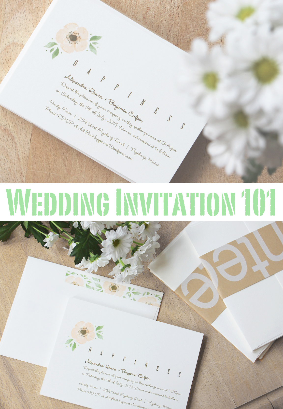 Wedding Invitation 101