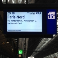 When you're out all night and somehow manage to catch your 9am train to Paris, no sleep. Boom.