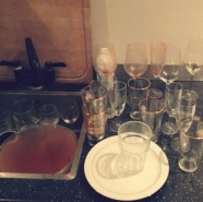 The night I had a party and then went to Paris for 3 days and came back and all the cups were glued to the counter.