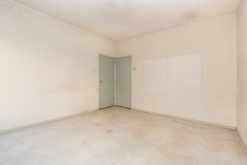 A shot facing in the opposite direction of the former living area.